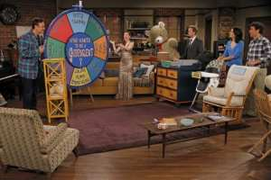 Lily and Marshall conduct a game show to determine who would be the best godparent.