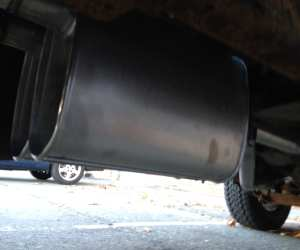New mufflers on a 1987 Dodge Power Ram, exhaust swap