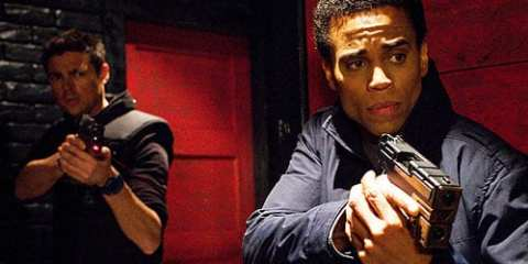 John (Karl Urban) and Dorian (Michael Ealy) learn about the sex-bot trade.