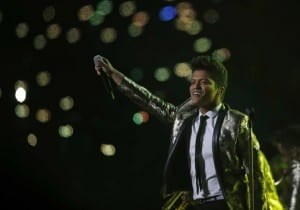 Bruno Mars at the 2014 Super Bowl. Media credit to the International Business Times