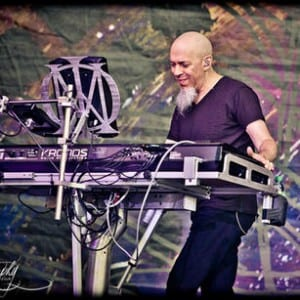 Dream Theater's Jordan Rudess performing in Sonisphere, France. Media credit to Road Runner Records.