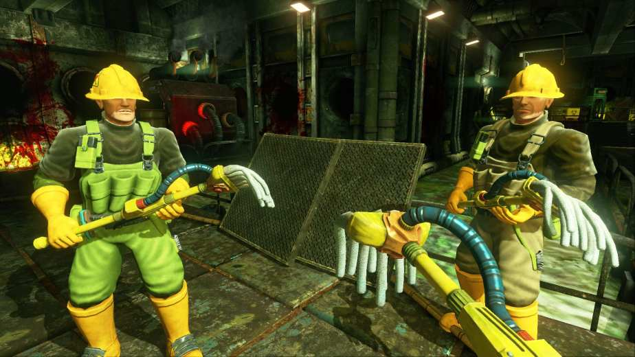 Viscera Cleanup Detail offers a cheeky jab at the action/shoot-em-up genre where the devil's in the details