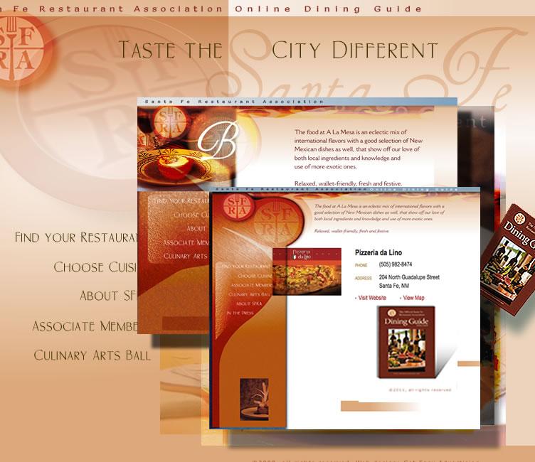 Over 70 pages, The Santa Fe Restaurant Association.