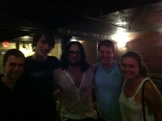 Aaron, non-band-member Mike, TONY BELIVEAU, Charlie, and myself