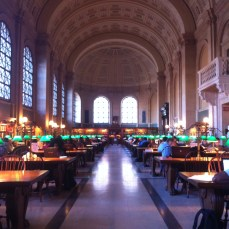 Boston Public Library: study room for all