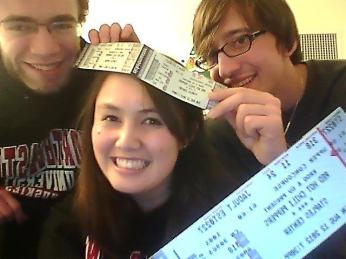 When we bought the tickets in January. Paul came to visit from Drexel, and we were very excited.