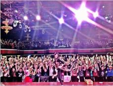 PHOTO FROM LINDSEY'S INSTAGRAM. This was a shot of the crowd, we're in there somewhere!