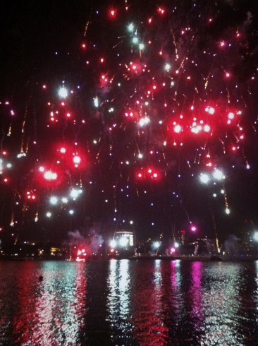 Fireworks over the Charles--thank you Boston!