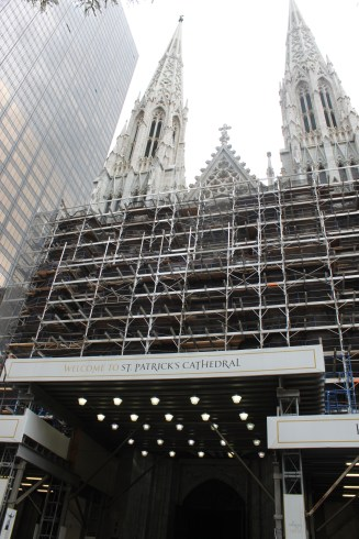 St. Patrick's Cathedral, apparently perpetually under construction, but gorgeous nonetheless.