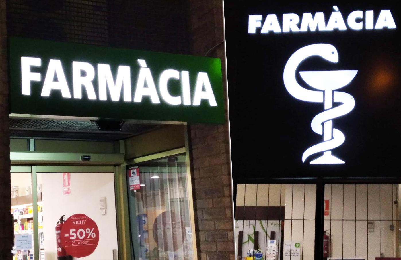 rótulos para farmacias en tarragona con luz