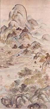 Ike Taiga, Fishing in Springtime, 1747