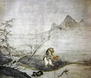 Josetsu, Catching Catfish with a Gourd, early 15th century