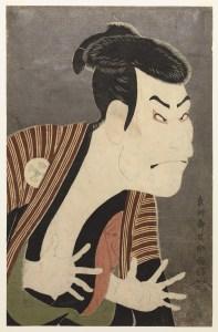 Toshusai Sharaku, Otani Oniji III as Yakko Edobei in the Play %22Koinyobo Somewake Tazuna%22, 1794