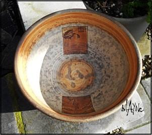 Wood fire ceramic bowl.