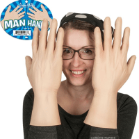 Man Hands, 'massive manly mitts' for wearing on your puny paws