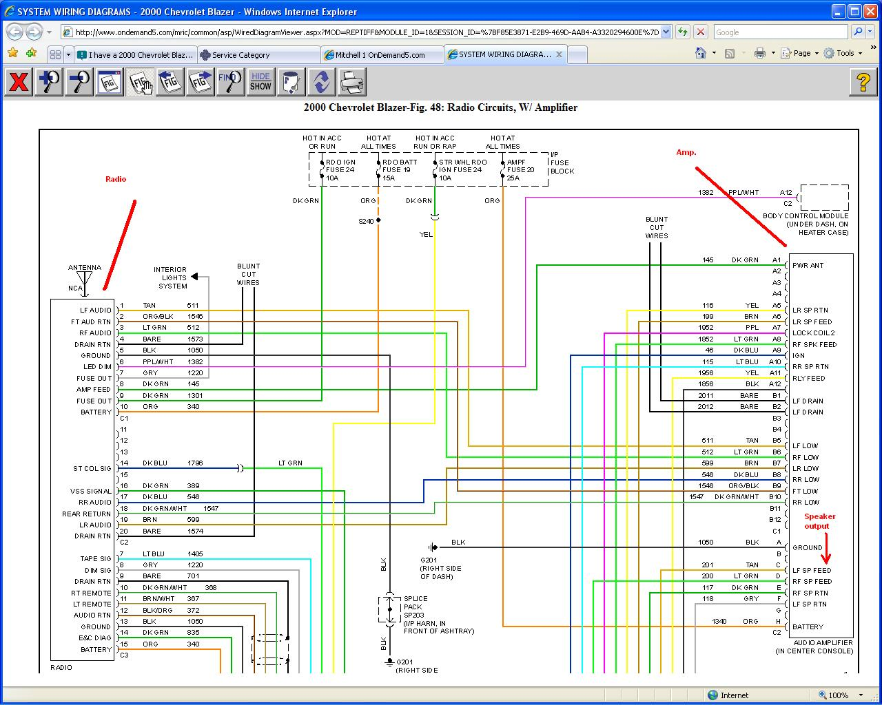 Radio Wiring Diagram 2001 Chevy Radio Wiring Diagram Radio Wiring 2000 Chevy  Express Radio Wire Diagram