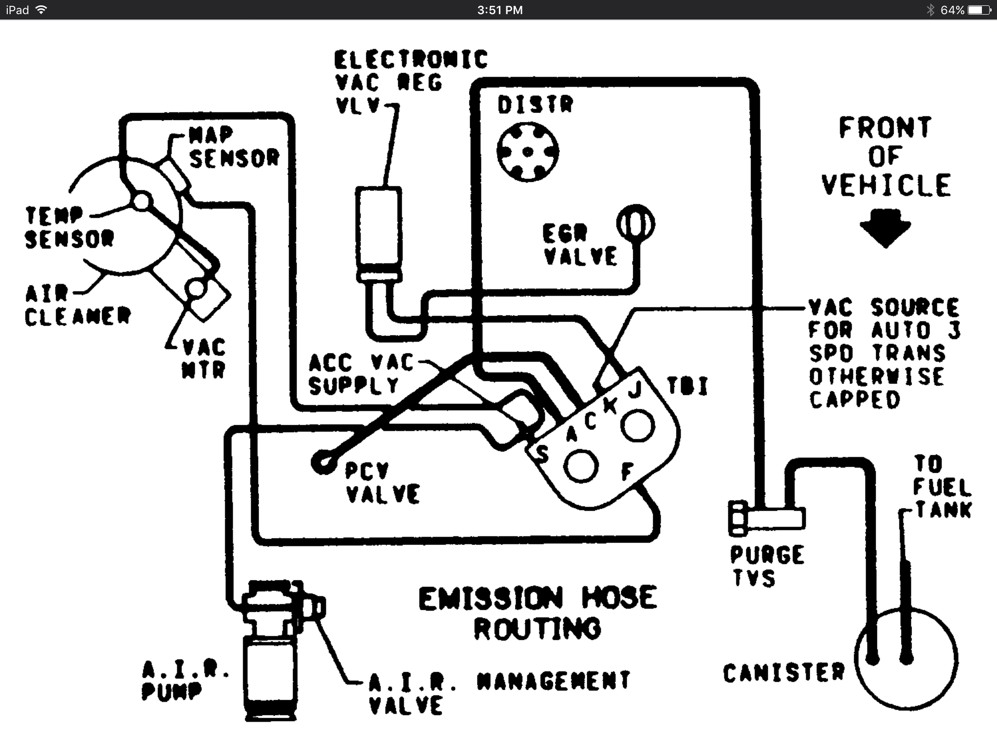 Vacuum Hose Diagrams