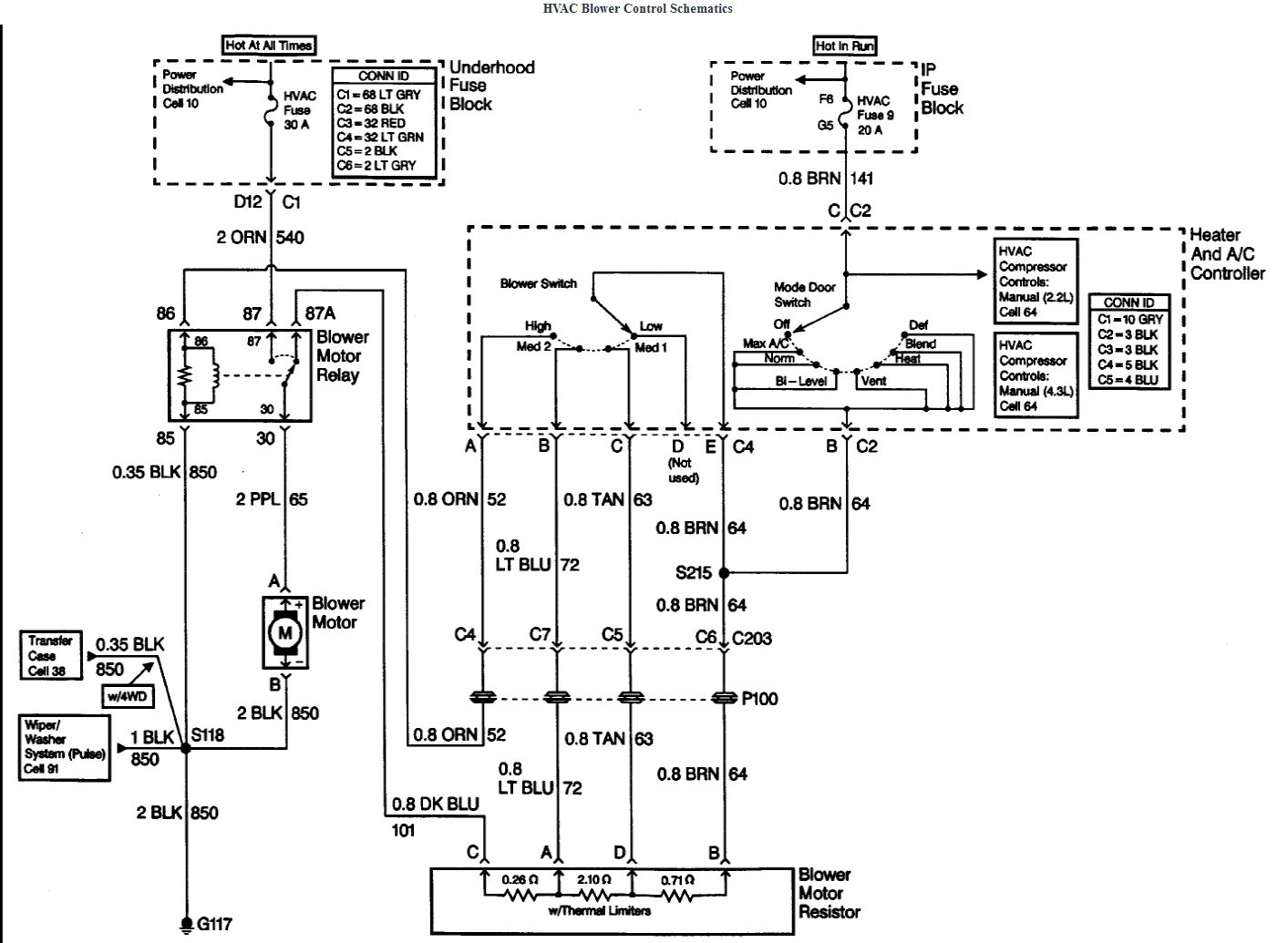 98 Blazer Fuse Diagram