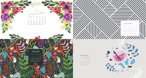 November 2018 Calendar Backgrounds