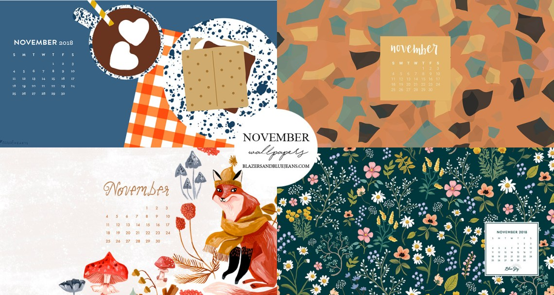 November 2018 Calendar Wallpapers Blazers And Blue Jeans