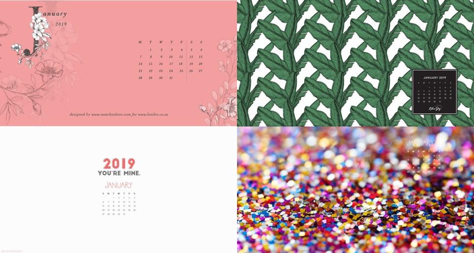january 2019 calendar backgrounds