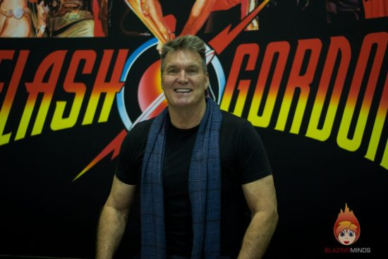 Sam Jones (Flash Gordon) at Wales Comic Con 2017 (photo Karen Woodham/Blazing Minds)