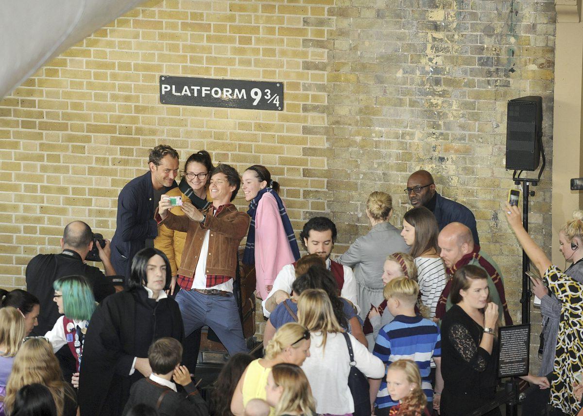 Eddie Redmayne and Jude Law Surprise Fans at Back to Hogwarts Celebration