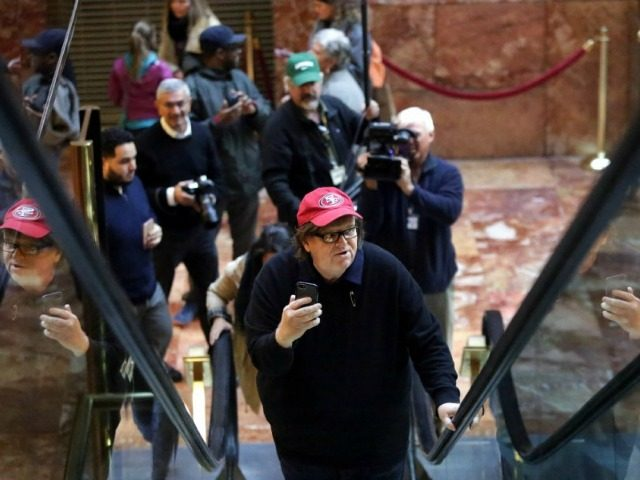 Michael Moore Shows Up at Trump Tower, Demands Meeting with President-Elect