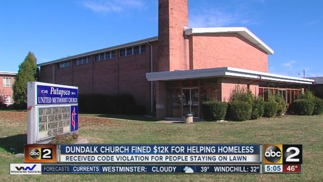 Maryland church ordered to evict homeless or pay $12,000 fine