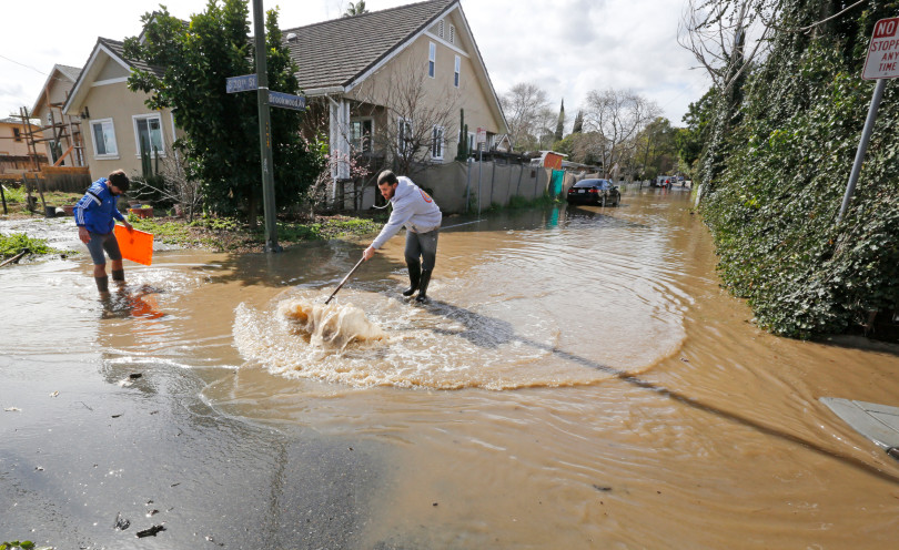 Aftermath of flooding