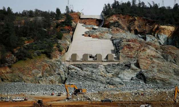 Oroville dam operators forced to send more water down wrecked spillway
