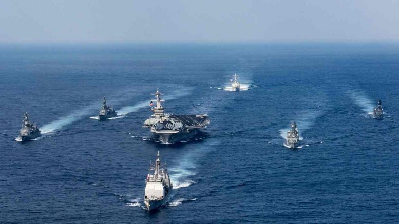 Japanese warships to join US fleet near North Korea as tensions rise