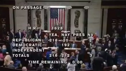 "Democrats Chant: ""Hey-Hey-Hey, Goodbye!"" on House Floor After O-Care Repealed (VIDEO)"