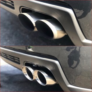 Before and After Exhaust Tips   Fresno Mobile Detailing