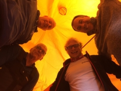 Trying out the new survival tent