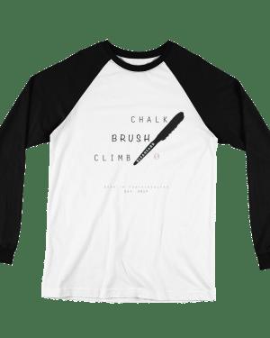 "T-shirt ML ""Chalk, Brush, Climb"" – Noir"