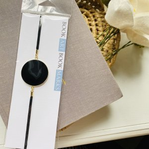 Black Circle Geode Slice Artmark Bookmark