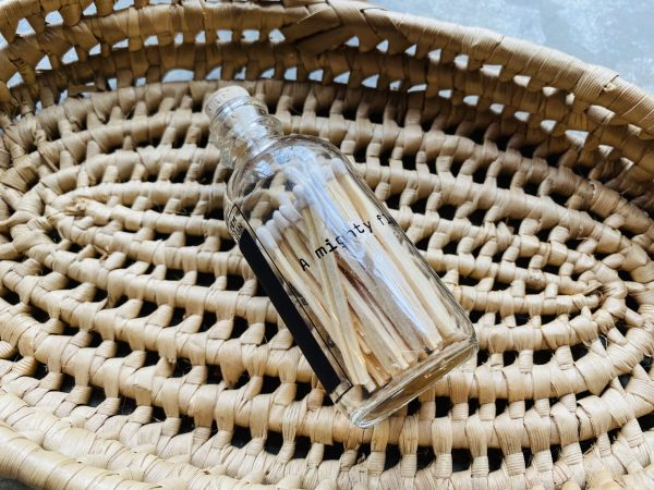 Mini Apothecary Match Bottle with Quote
