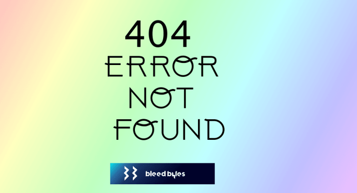 404 Error Not Found