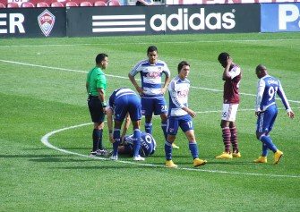 """FC Dallas again on the ground """"injured"""""""
