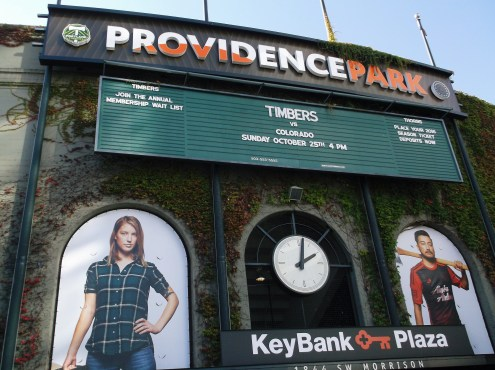 Outside the grounds of Providence Park
