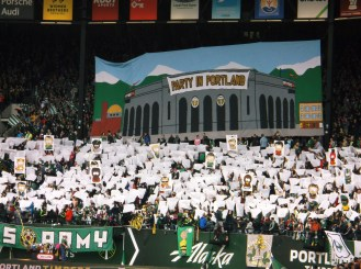 South Park themed tifo by Timber's Army