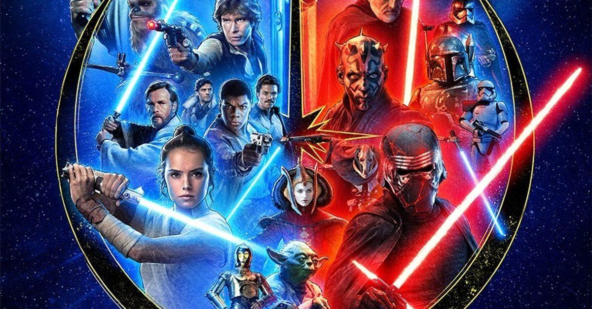 star wars poster celebrating the saga