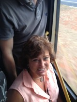 Christy in the bus