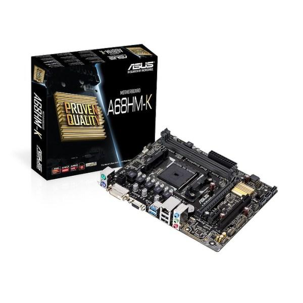 ASUS A68HM-K Socket FM2+ AMD A68 DDR3 Micro ATX Motherboard (90MB0KU0-M0EAY0)