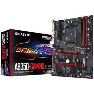 Gigabyte GA-AB350-Gaming Socket AM4 AMD B350 DDR4 ATX Motherboard (GA-AB350-GAMING)