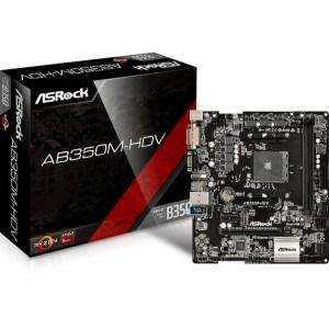 ASRock AB350M-HDV Socket AM4 AMD B350 DDR4 Micro ATX Motherboard (AB350M-HDV)