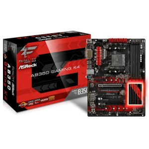 ASRock Fatal1ty AB350 Gaming K4 Socket AM4 AMD B350 DDR4 ATX Motherboard (AB350 Gaming K4)