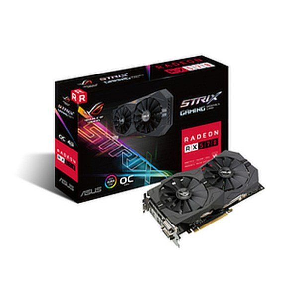 ASUS Radeon RX 570 ROG Strix Gaming OC 4GB GDDR5 Graphics Card (90YV0AJ0-M0NA00)