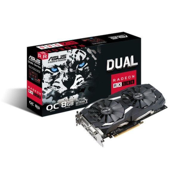 ASUS Radeon RX 580 DUAL OC 8GB GDDR5 Graphics Card (90YV0AQ1-M0NA00)